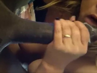 Inhaling a big black man sausage and looking for even more man sausage