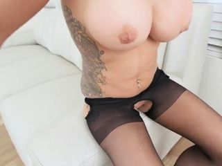 Mother and compeer's patron sensational rubdown Ryder Skye in Stepm