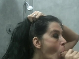 Canadian Mature Step Mom's point of view filthy Head in douche to Stranger
