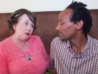 Grannie multiracial lovemaking