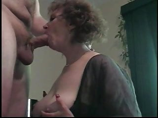 Cougar become man mainly will not hear of knees blowjob