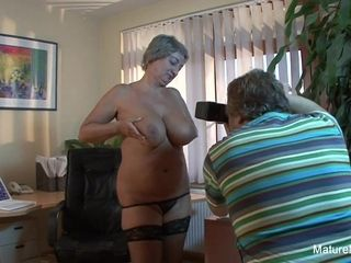 Mature plumper Takes A fountain On Her giant congenital boobs - Mature'NDirty