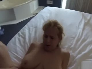 Promiscuous senior grannie takes youthfull trunk point of view motel smash
