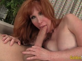 Mature ginger-haired Freya Fantasia bj's on a schlong and Then tears up It