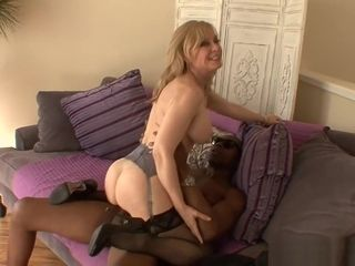 Milfgonzo Mature platinum-blonde hotty Nina Hartley slammed By A big black cock