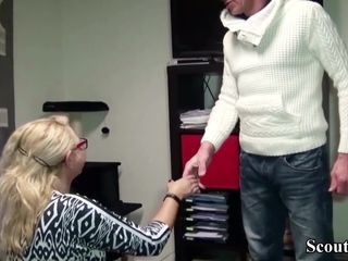 GERMAN cougar manager lure JOB CANDIDATE TO pulverize HER IN OFFICE