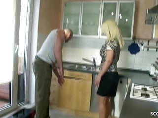 GERMAN wifey lure THE repairer TO nail HER bunghole