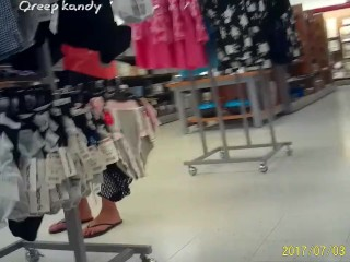 Straight from the shoulder MILF limbs Panty Shopping (Jenny)W/ Faceshot