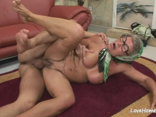 Age-old granny is hot plus she loves riding
