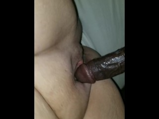 Milf black-haired with big black cock moepipes
