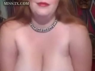 Plus-size mature demonstrating ginormous bosoms and fat abdomen