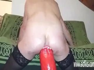 Ample assfucking fake penis pummeled unexperienced cougar