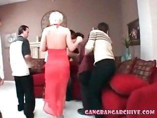 Gang-bang Archive 2 mummies getting slammed dual assfuck double penetration