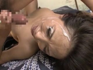 Fantastic asian super-bitch in horny wifey, Mature JAV gig