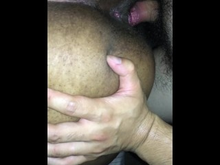 Digging fat dark-hued arse from behind pt2