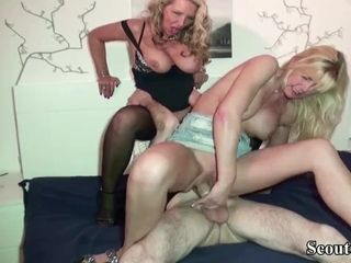 GERMAN cougar CAUGHT sister-in-law WITH hubby AND JOIN IN three-way
