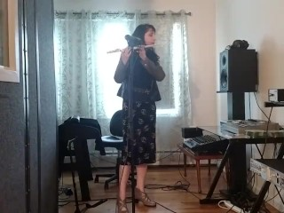 Can I Fit This entire Flute in my jewess cunny? Spoiler * yes I can! *