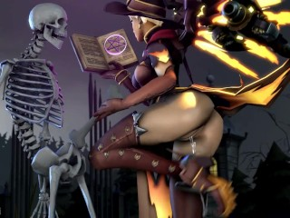 Witch grace With Skeletons Overwatch (Animation W/Sound)