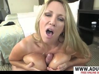 Obese mother Kassie tit fucking