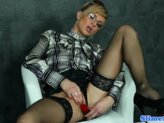 Well-dressed milf bukkake masked dimension pussytoying
