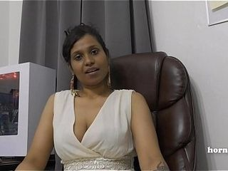 Mommy&#039_s Indian mate HornyLily flirts and pisses on her undies for you point of view