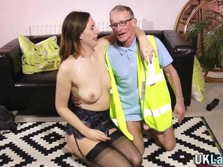 Randy MILF Seduces Hung Oldman