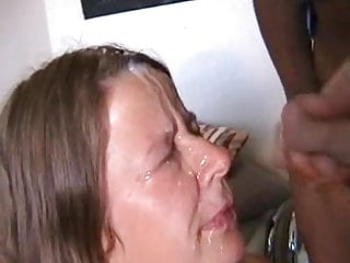 Mature takes a phat facial cumshot from a big black cock