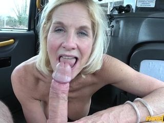 Coitus addicted gilf Molly torn up like a street hoe in cab cab