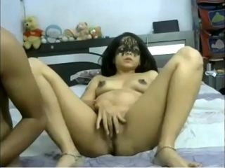 Webcam Couple- Desi preggie wifey finger-banged, deep-throated &amp_ ravaged on webcam by spouse
