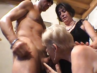 Granny opens on touching be advisable for beefy load of shit