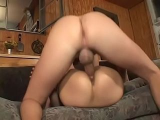 Big-boobed lengthy haired mature bi-atch Gabrielle is pounded by a dude then he blows a load on her