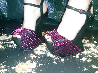 Female L punch with 24cm high high-heeled slippers coocies.