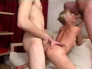 Russian mature and 2 dudes fuul service , stiff going knuckle deep