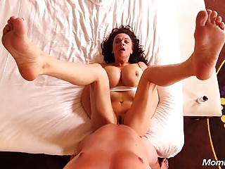 Anal lady-love This hefty knockers Gilf POV Pussy Creampie