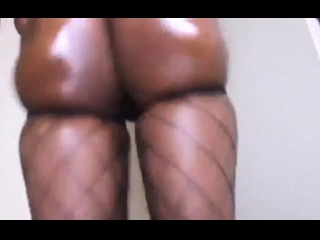 Mature dark-hued plumper assfucking