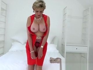 Brit mature nymph Sonia killer striptease