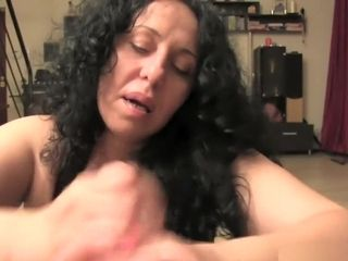 Mature foot wank and oral