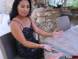 Chinese cougar step-mother pulverizes and inhales a stepsons massive sausage