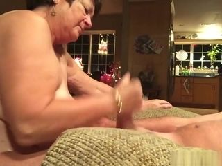 Huge-titted mature wifey deep-throats her husband's trunk on camera