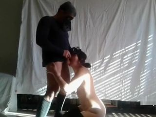 Caning her before she cleans my bootie