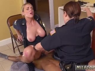 Filthy harry cougar ebony masculine squatting in home gets our mommy officers