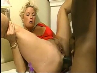First-timer wondrous  blond ThiccMILF's cock-squeezing brown-eye ruined (who has more?)
