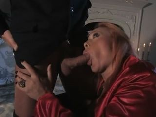 Ginger-haired cougar ultra-kinky After A Dinner tryst