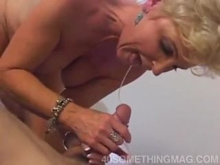My obscene grandmother Gives drool suck off To successful twink