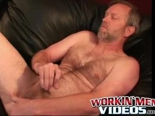 Kinky mature man luvs toying with brown sphincter while fapping