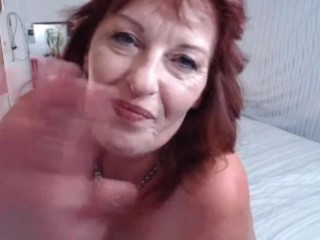 Ginger senior damsel Dawn likes to grin and chat about fuckfest