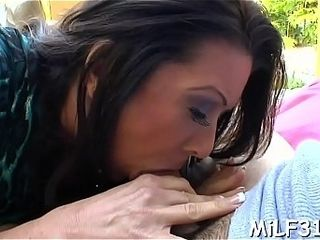 Fellow is delighting torrid mom i&#039_d like to smash with humid cum-hole tonguing