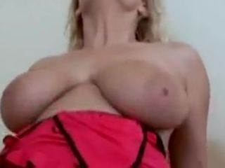 Light-haired mommy,with huge titts