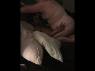 Wifey deepthroats and boinks big black cock, again while I film