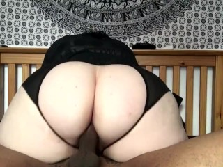 Phat ass white girl wifey rails me slow. Then gives me a jizm milking hand-job!!